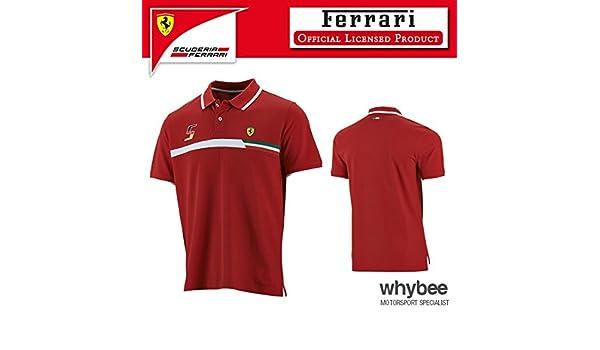 Ferrari fórmula 1 polo 2015 Mens camiseta Mens (XXL) Chest 111 ...