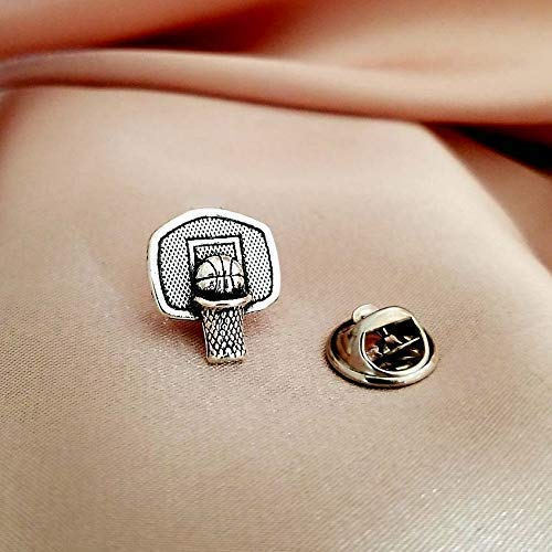 Basketball Hoop Tie Necktie Tack Lapel Brooch Jacket Suit shirt Scarf Hijab Pin for men women