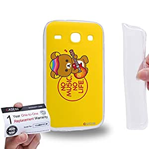 Case88 [Samsung Galaxy Core i8260 / i8262] Gel TPU Carcasa/Funda & Tarjeta de garantía - Rilakkuma Korilakuma Kiiroitori Kaoru Collection 1358
