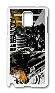 Samsung Note 4 Case,VUTTOO Cover With Photo: City Life For Samsung Galaxy Note 4 / N9100 / Note4 - PC White Hard Case