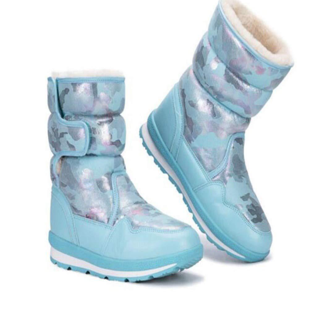 FMWLST Stiefel Winter-Schnee-Aufladungen Blauen Frauen Der Frauen Frauen Frauen Tragen Haltbare Schneestiefel 870e74