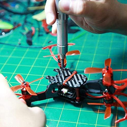 携帯電話やノートパソコンを修復するための OLED ディスプレイで充電可能な精密電動スクリュードライバーセットモーションコントロール (シルバー)