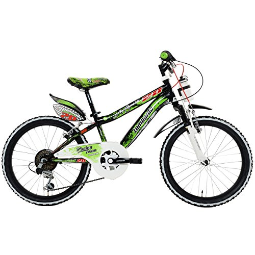 Lombardo Artemis Kids Bike, 20 inch Wheels, 11 inch Frame, Boy's Bike, Black/Green, 99% Assembled by Lombardo