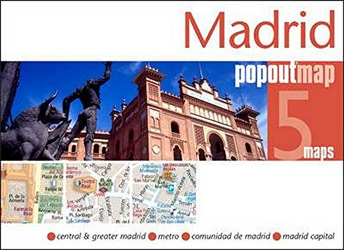 Madrid Popout Map handy pocket size popup city map of Madrid
