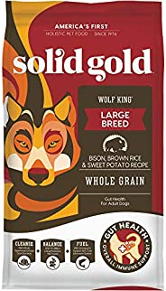 Solid Gold - Wolf King with Real Natural Bison & Brown Rice - Whole Grain Rich - Large Breed Holistic Dry