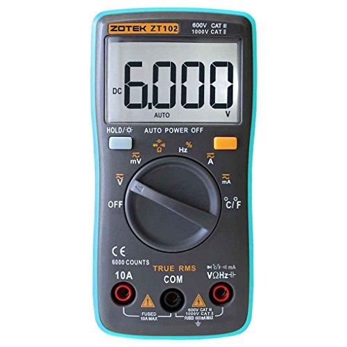 Xuanhemen Compact Digital Multimeter Auto Range Current Voltage Tester 6000 Counts