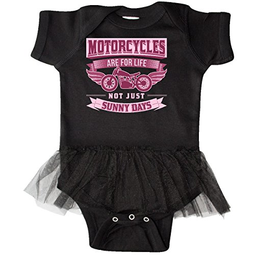inktastic - Motorcycle Female Biker Infant Tutu Bodysuit 6 Months Black 2f594 ()