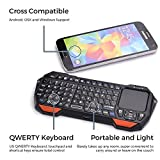 Bluetooth Mini Keyboard Remote + Touchpad for LG G Pad 8.3 V500, 8.3 LTE VK810, (Tab) 10.1 V700 , COOPER MAGIC WAND Handheld Universal Portable Backlit Controller w/ Mouse Trackpad (Black)