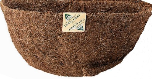 Gardman R891 Manger Shaped/Wall Basket Coco Liner, 20'' Long x 8'' Wide x 8'' High, Fits R941 and R962 Planters by Gardman