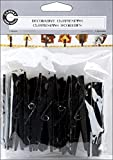 Decorative Clothespins Black  3.5 inch Long by 5/8 inch wide, 12 Count