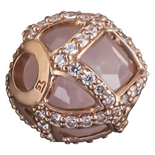 Thomas sabo k 0136-417-9 maharani perles argent plaqué or rose avec quartz rose et zirconium