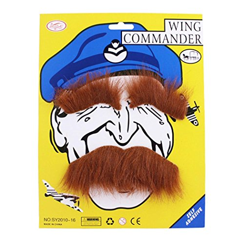 Facial Hair Halloween Costumes (Susenstone Funny Costume Party Male Halloween Beard Facial Hair Disguise (Brown))