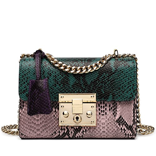Chain Crossbody Shoulder Purse Green Bags Snake ZOOLER Purse Leather Handbag for Bags Women 1UXwxHq