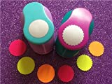 Fascola 2.5cm(1 inch) Circle and Wave Circle Shape hole punch set Puncher Crafts Scrapbooking round DIY Paper Cutter Punches