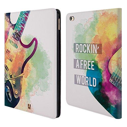 Head Case Designs Chitarra Elettrica All About Music Cover a portafoglio in pelle per Apple iPad Air 2