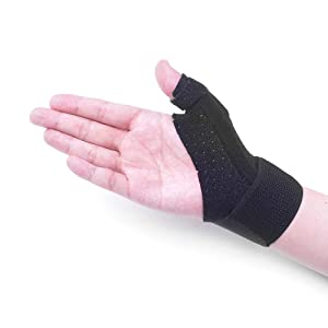 Thumb Splint Brace - Reversible Thumb & Wrist Stabilizer Splint for BlackBerry Thumb, Trigger Finger, Pain Relief, Arthritis, Tendonitis, Sprained and Carpal Tunnel Supporting, Lightweight and Breatha