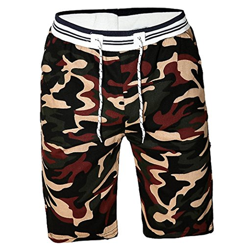iZHH Men Camouflag Shorts Swim Trunks Quick Sport Beach Surfing Water (Design History Black Stretch Jersey)