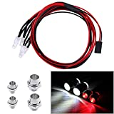 Hobbypark 4 LED Light Set Headlights Taillight For RC Car Truck Tank Fit HSP Redcat Tamiya D3 Body Parts