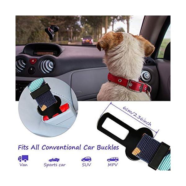 51wZP8GhbtL CSYY Hunde Sicherheitsgurt, Universal Hundegurt fürs Auto,Hundesicherheitsgurt mit Elastischer Ruckdämpfung und Starke…