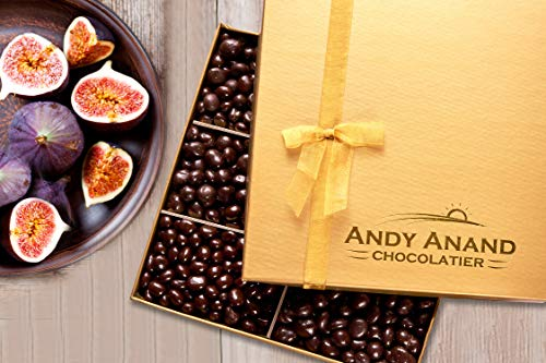 Andy Anand's Dark Chocolate covered Figs 1 lbs, Organic Simply Delicious- For Birthday, Valentine Day, Gourmet Christmas Holiday Food Gifts, Thanksgiving, Halloween, Mothers Day, Fathers Day, Get Well