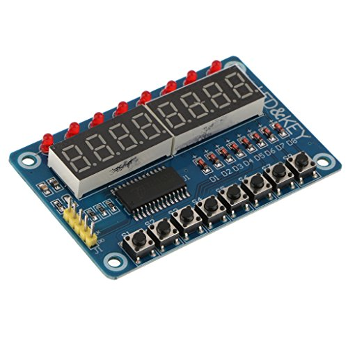 D DOLITY Bright Color TM1638 8-Bit Digital LED Tube 8-Bit Keypad Display Module for AVR Arduino