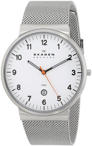 SKAGEN-Klassik-Mens-Three-Hand-Date-Stainless-Steel-Watch