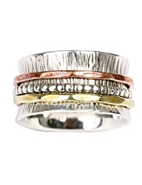 "Energy Stone ""Beautiful Imperfection"" Spinner Ring (Style# SR60)"