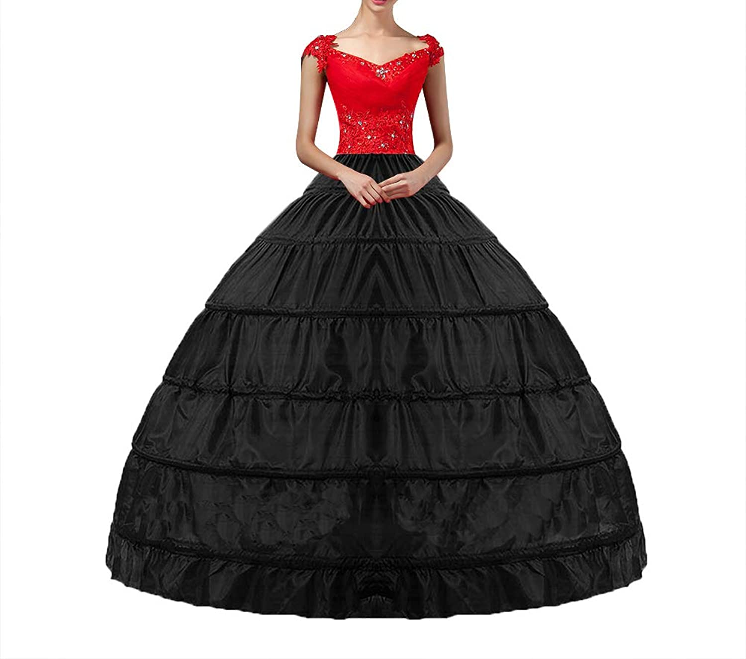 a192323199714 ♥Crinoline Petticoat's size-Skirt full length is about 100 ± 5cm. The  maximum circle diameter is 124cm / 49in. Elastic Crinoline underskirt waist  is ...