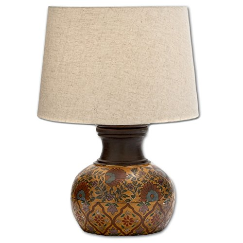 - Urban Designs Adele Hand-Painted Terra Cotta Table Lamp, 20