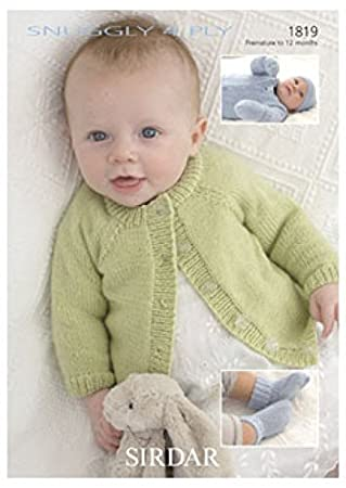 Sirdar Snuggly 4ply Baby Knitting Pattern 1819 Amazon Home