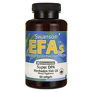 Swanson Super Dpa Fish Oil 60 Sgels