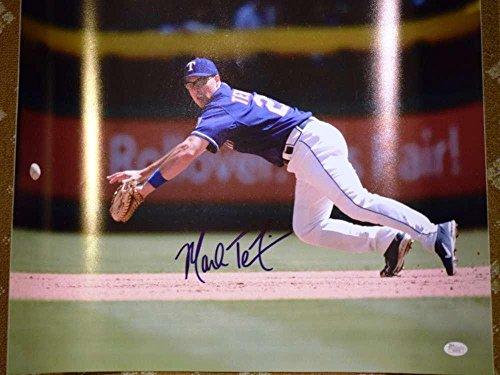 Mark Teixeira Photograph - Signed Mark Teixeira Photograph - Coa Cert Authentic 16x20 - JSA Certified - Autographed MLB Photos