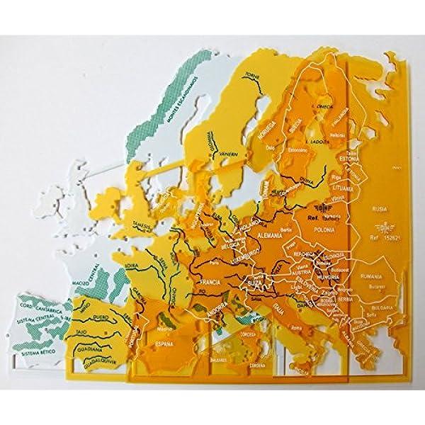 Plantillas Mapas Europa, Estuche x 3: Amazon.es: Oficina y papelería
