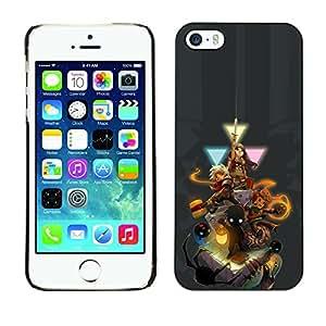 TaiTech / Prima Delgada SLIM Casa Carcasa Funda Case Bandera Cover Armor Shell PC / Aliminium - Personajes del juego - iPhone 5 / 5S
