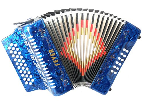 Fever F3112-BL Button Accordion with 31 Keys and 12 Bass ...