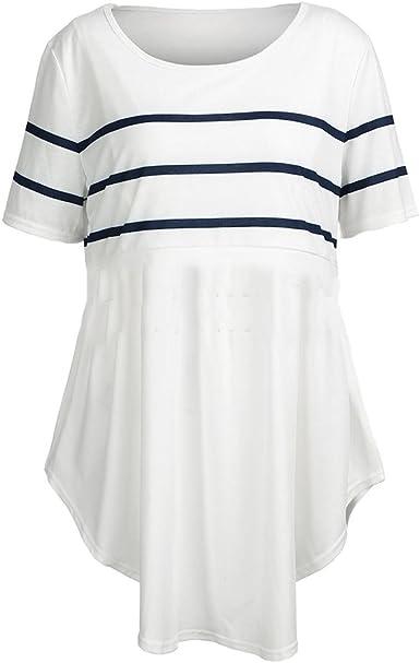 MEIHAOWEI Blusas de Lactancia Alimentación Camisa de Maternidad Embarazo Tops Enfermería Camisas Ropa de Maternidad para Mujeres Embarazadas: Amazon.es: Ropa y accesorios