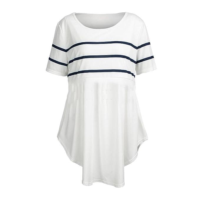 MEIHAOWEI Blusas de Lactancia Alimentando la Camisa de Maternidad Embarazo Tops Camisas de Lactancia Ropa de