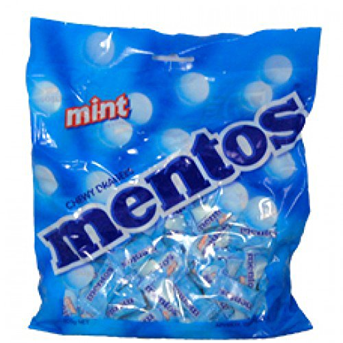 Mentos Mint 150 Single Serve Pillow Packs 405g 14.3oz Large (Pillow Mints)
