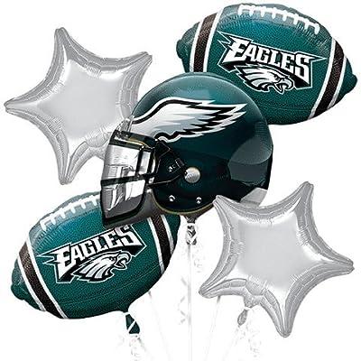 NFC East Philadelphia Eagles 7 Piece Balloon Bouquet Bundle: Toys & Games