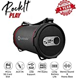Woozik S22B Wireless Speaker, Outdoor/Indoor Boombox with FM Radio, Built-in Powerbank, SD Card Slot, Aux 3.5mm, USB Support and Carrying Strap