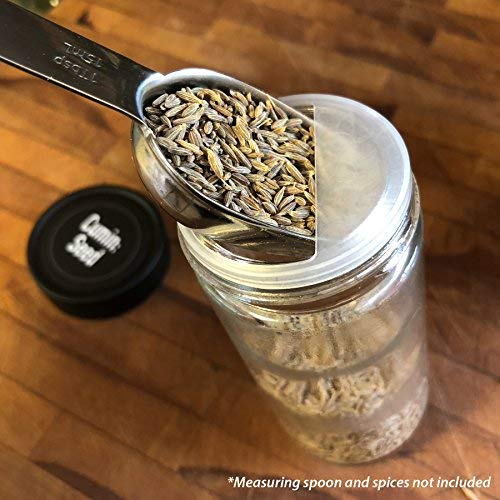 AllSpice 4 Ounce Glass Spice Jars (Same Size as Penzeys and