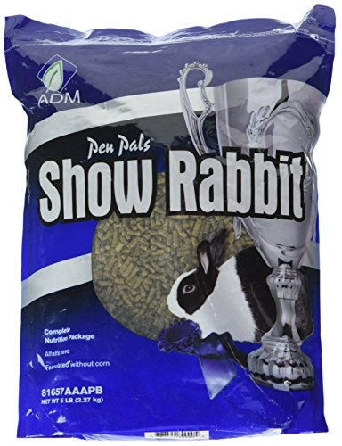Adm Animal Nutrition 81657Aaapb 5 Lb Show Rabbit Feed, 1 Count