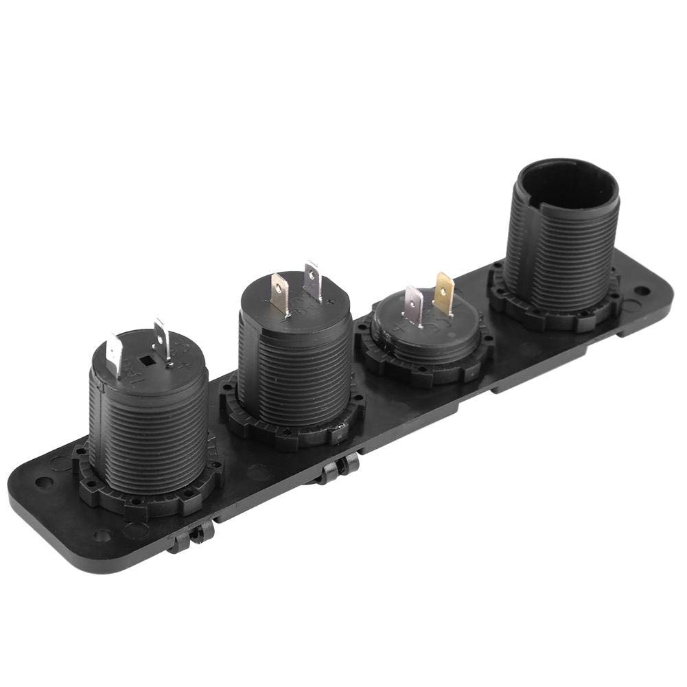 4-in-1-Ladeger/ät Schalttafel Dual-USB-Ladeger/ät LED-Voltmeter rot EIN-AUS-Schalter Wasserdichtes Multifunktionspanel Steckdose