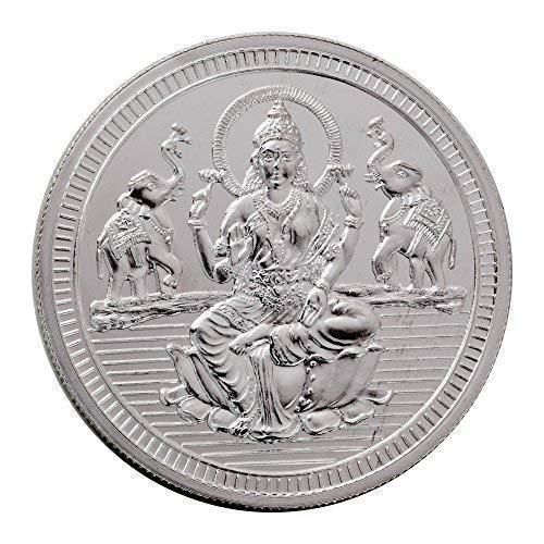 Bangalore Refinery 999 Purity Silver Coin Lakshmi 50 Gram