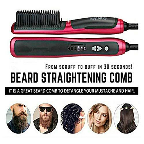Wishwin Electric Hair Brush Straightener for Long Hair Short Hair for Women