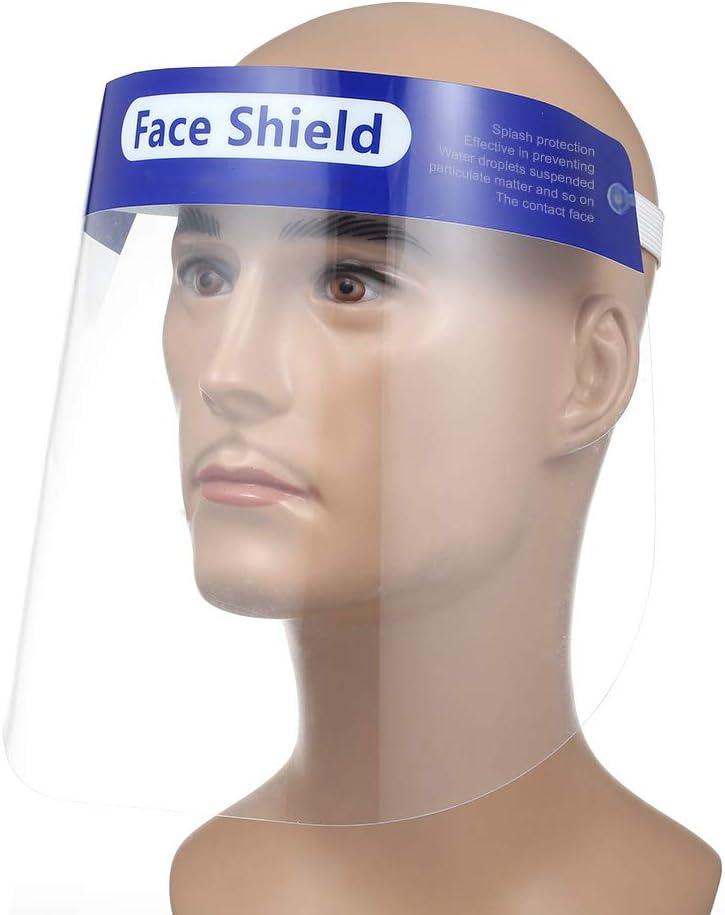 Decdeal protección Facial Visera Transparente Safety – Pantalla Facial, Cocina cocinar, Aceite de Doble Cara Anti-Fog Anti Splash Transparente, Ojo Protección