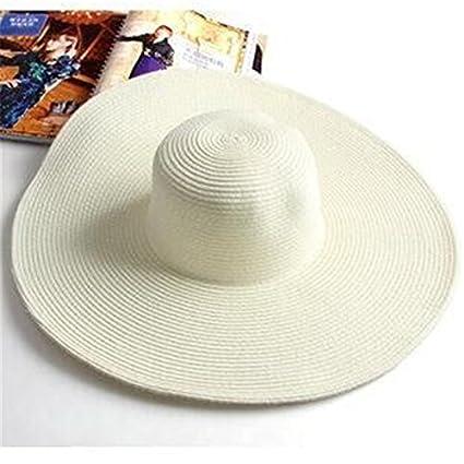 Amazon.com  Wall of Dragon Summer Fashion Floppy Straw Hats Casual ... 596be162374