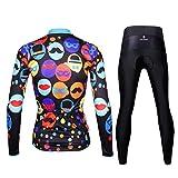 Ilpaladino Women's Cycling Jersey Long Sleeve Set Colorful Bike Shirts