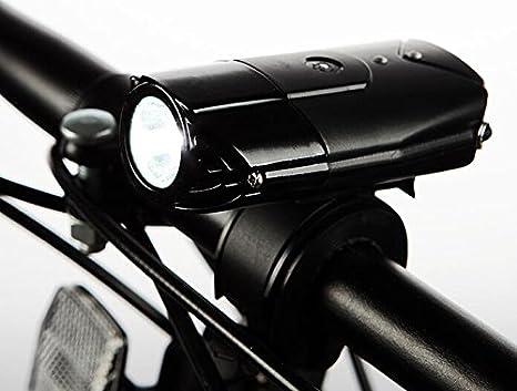 USB Batería luces de bicicleta casco luz agradable al tacto a on ...