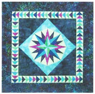 Foundation Paper Piecing Mariner's Compass Quilt Pattern - 35
